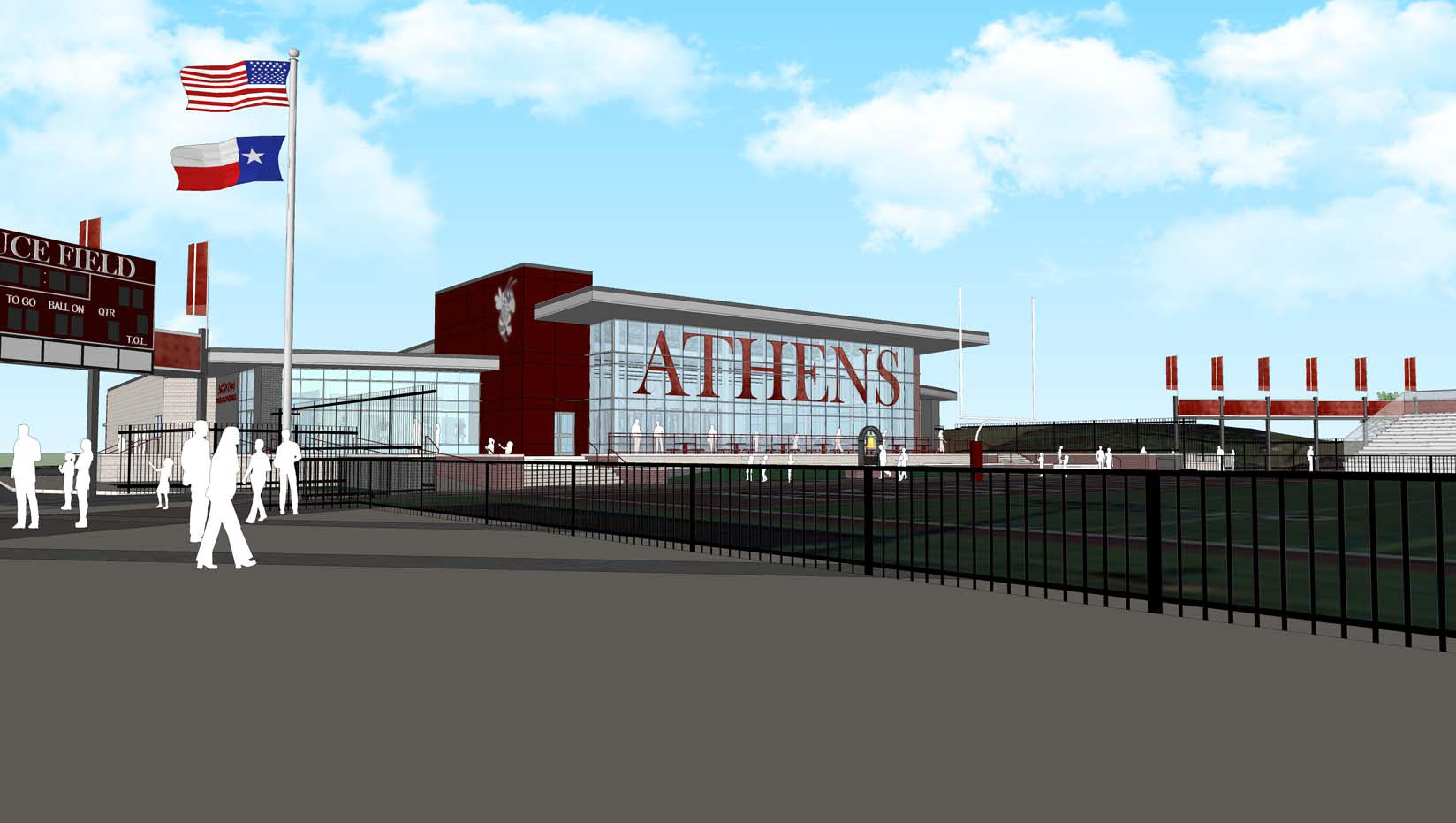 Athens Bruce Field Fieldhouse